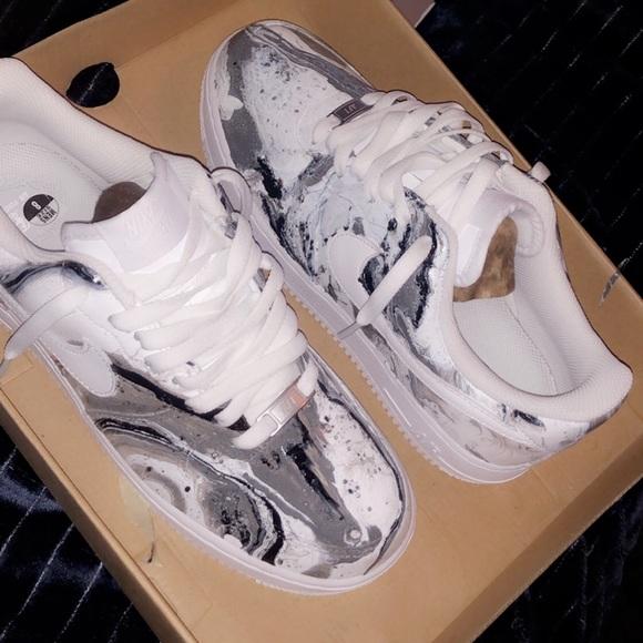 Custom Nike Air Force 1 Size 8 men's, worn once